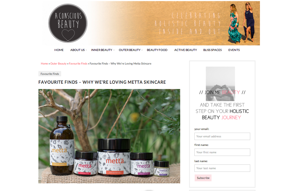 A Conscious Beauty Review Metta Skincare
