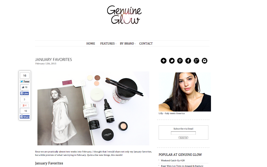 Genuine Glow January Favourites